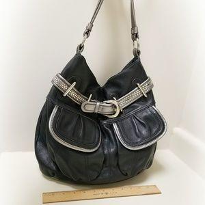 B. Makowski Leather Hobo Bag Purse